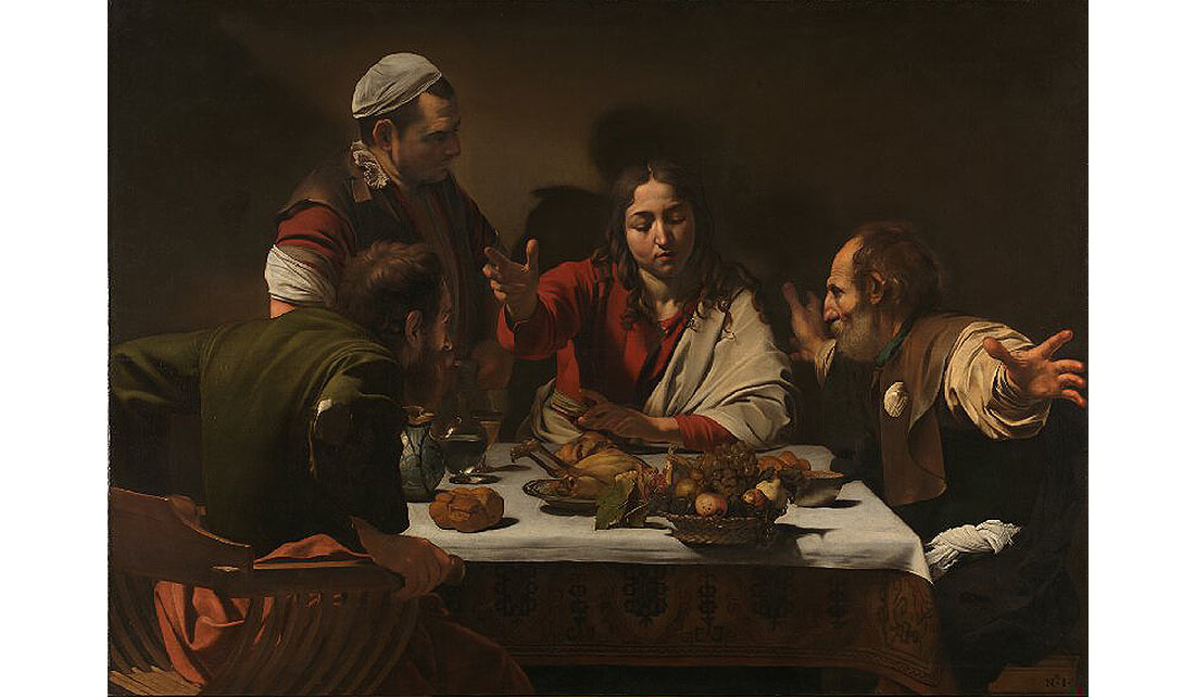 """""""Los discípulos de Emaús"""" de Caravaggio - National Gallery"""