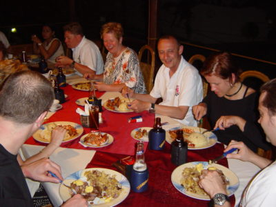 Dining in a Sabang Restaurant