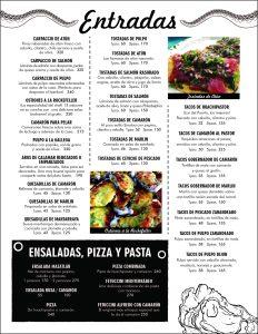 Entradas Ensalada Pizza Pasta
