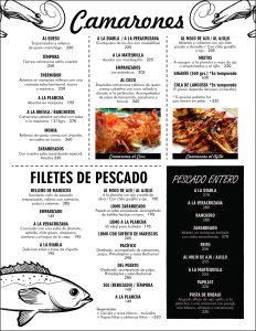 Camarones filete pescado