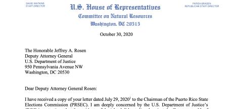 Grijalva letter to DOJ