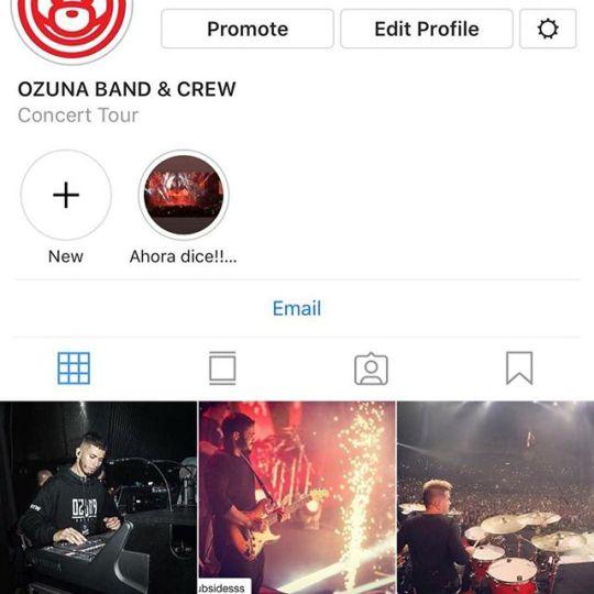 Follow el instagram oficial del crew de @ozuna @ozunacrew