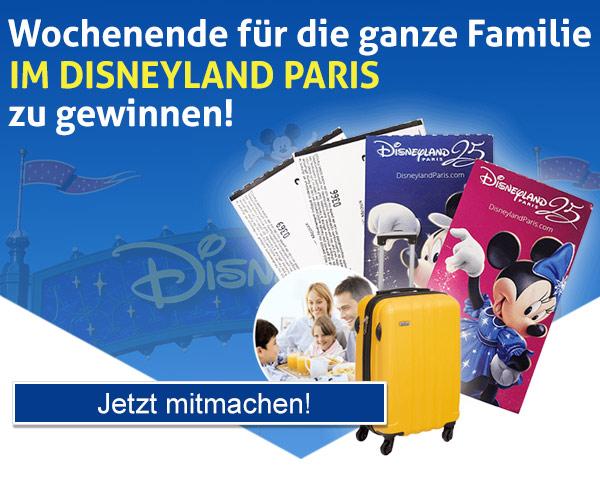 Wochenende für die ganze Familie im Disneyland Paris zu gewinnen!