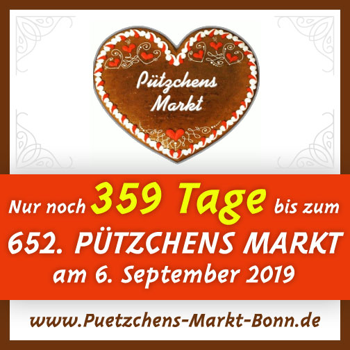 Wir freuen uns schon jetzt auf den 652. Pützchens Markt, der vom 06. September bis 10. September 2019 stattfindet!
