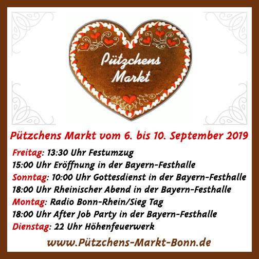 Highlights beim 652. Pützchens Markt vom 06. September bis 10. September 2019