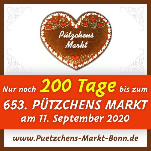 Nur noch 200 Tage bis zum 653. Pützchens Markt Bonn am 11. September 2020