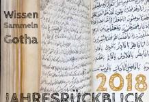 Wissen Sammeln Gotha Jahresrückblick 2018