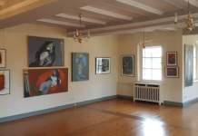 Künstlergespräch mit Jost Heyder in seiner Ausstellung im Schloss Molsdorf