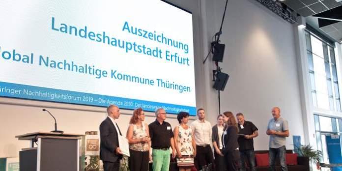 Erfurt erhält Auszeichnung für die Erarbeitung einer Nachhaltigkeitsstrategie