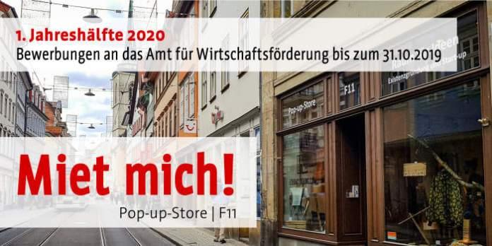 Pop-up-Store | F11 – Bewerbungsfrist für 2020 ist der 31.10.2019