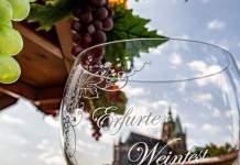 27. Erfurter Weinfest mit Kunst- und Kreativmarkt ab Donnerstag auf dem Domplatz