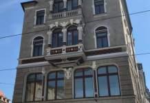 Fassade eines Hauses in der Bahnhofstraße