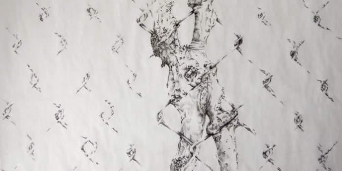 Zeichnung eines Zaunes