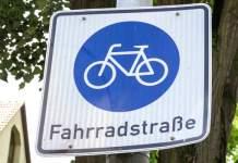Straßenschild Fahrradstraße