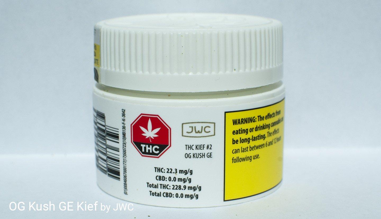 22.3% THC OG Kush Kief by JWC