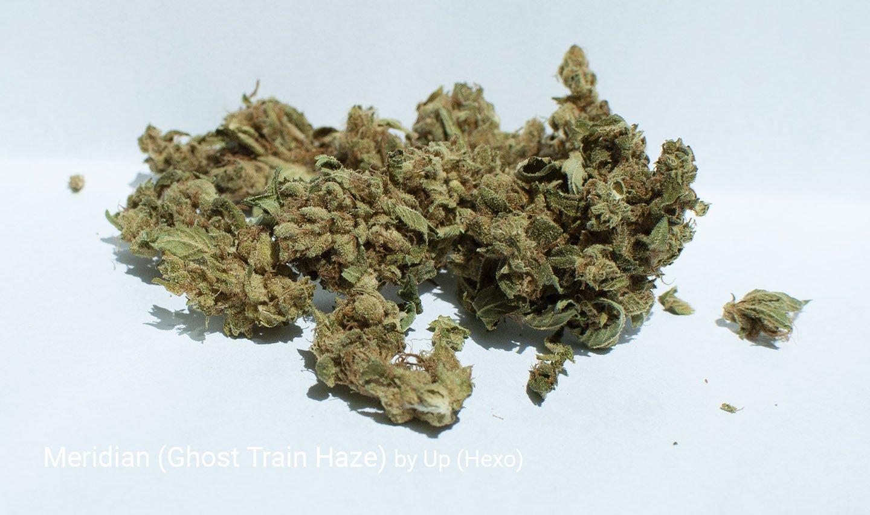 18.2% THC Meridian aka Ghost Train Haze by Up (Hexo)