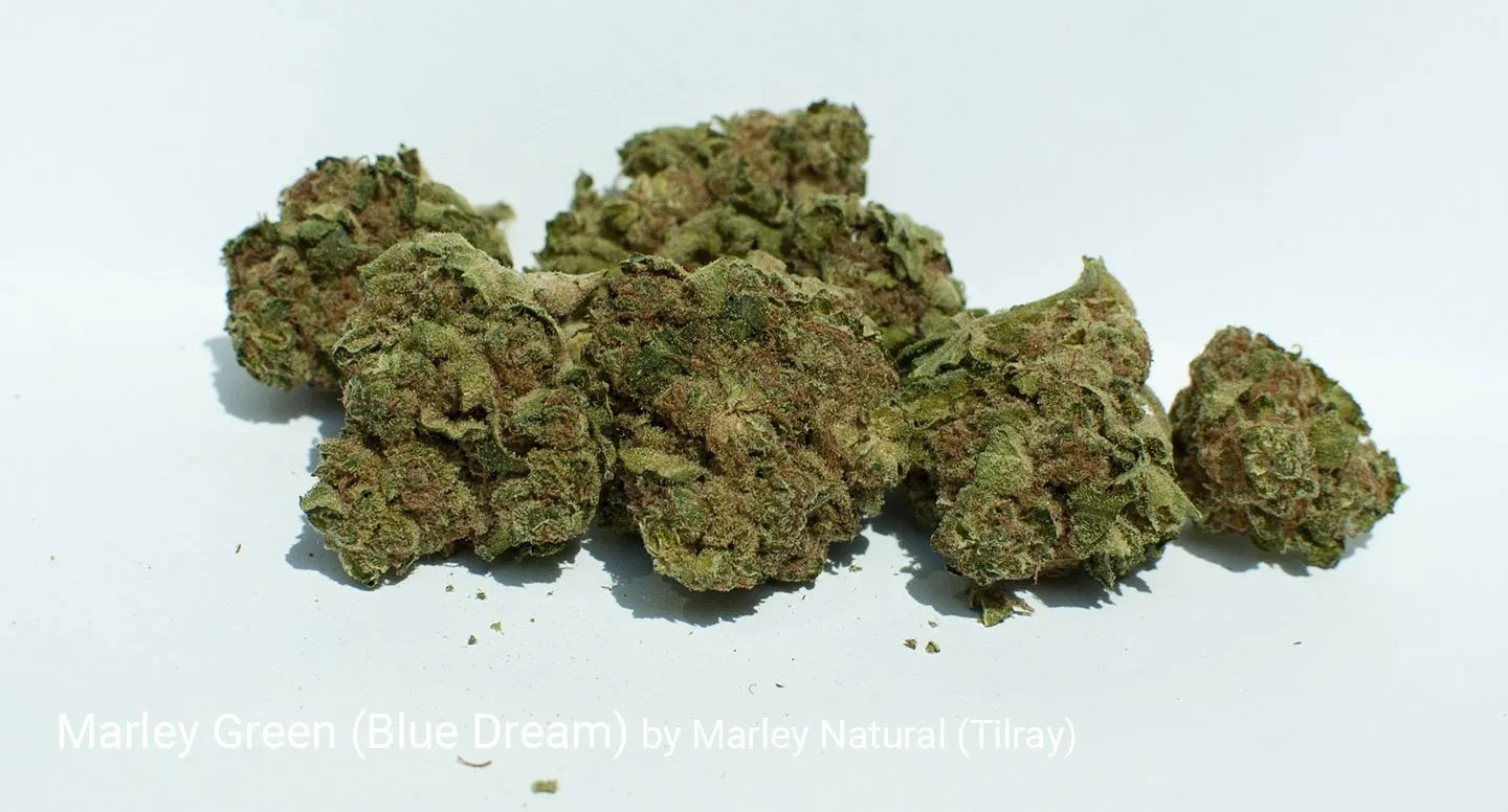 21.2% THC Marley Green aka Blue Dream by Marley Natural