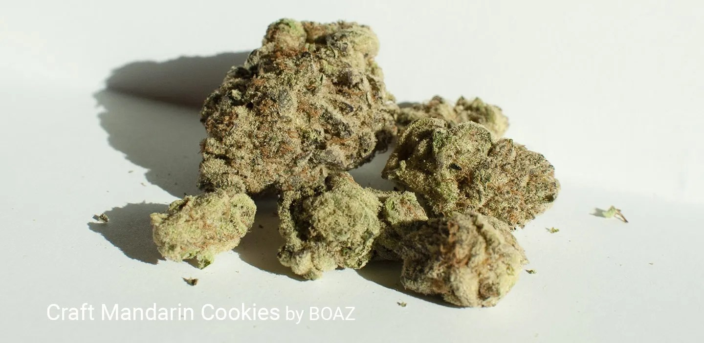 25.41% THC Craft Mandarin Cookies by BOAZ