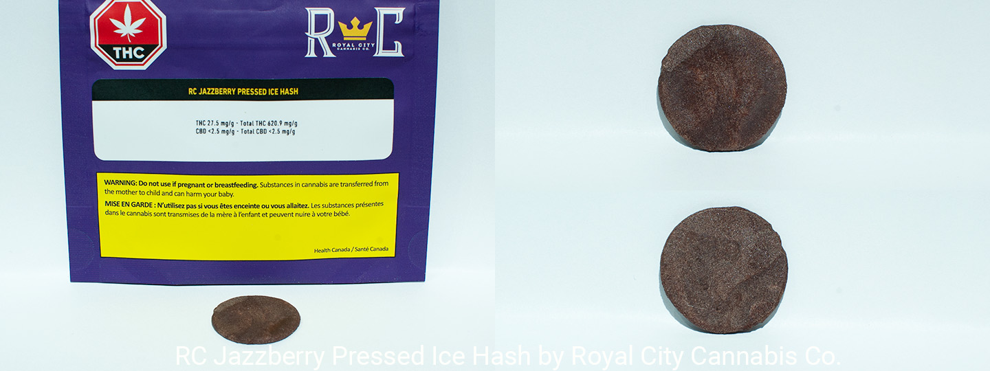 62.09% THC RC Jazzberry Pressed Ice Hash by Royal City Cannabis Co.