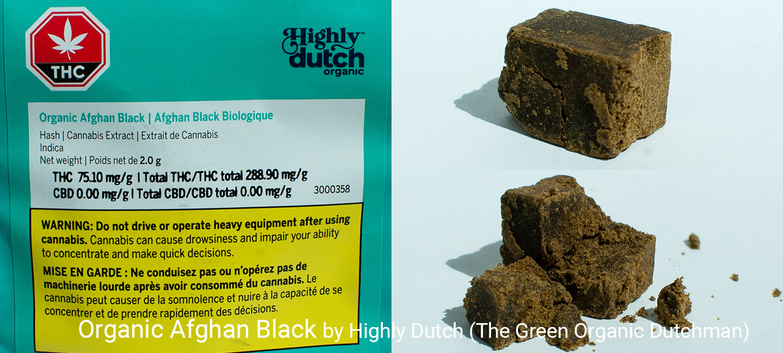 28.89% THC Organic Afghan Black by Highly Dutch