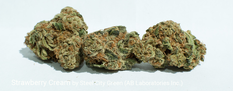 18.27% THC Strawberry Cream by Steel Green City