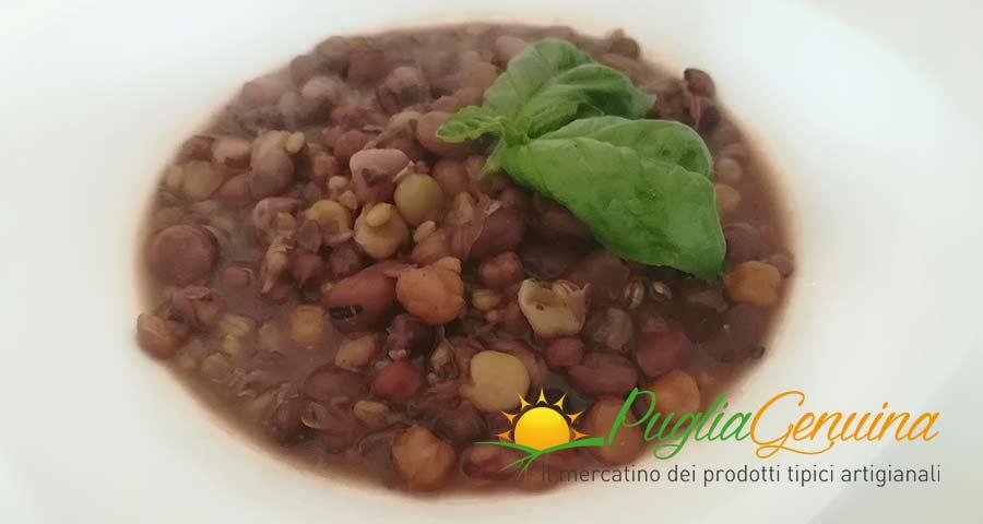 Zuppa legumi e grano