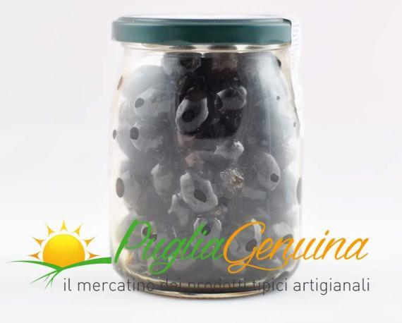 Olive nere pugliesi al sale