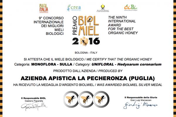 Miele di Sulla - Premio Biolmiel