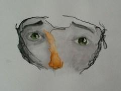 porträt ohne mund
