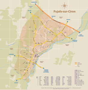 Plan de Pujols sur Ciron