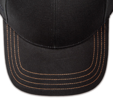 Pukka hat, visor stitching, 4 rows, 4 contrast stitch, 1 color
