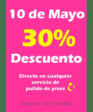 promocion de pulido de pisos en Mayo