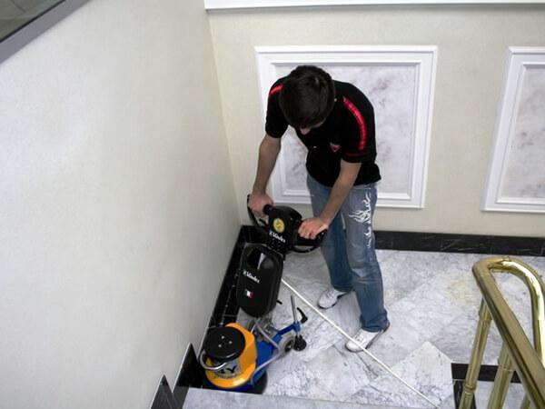 pulido de pisos sin contaminantes