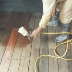 sellado de piso de madera