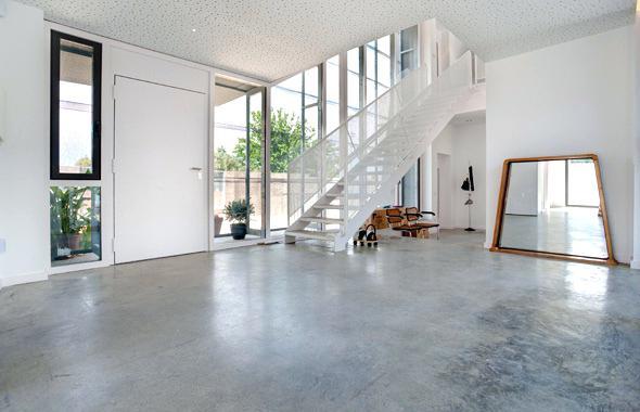 piso de concreto pulido y oxidado