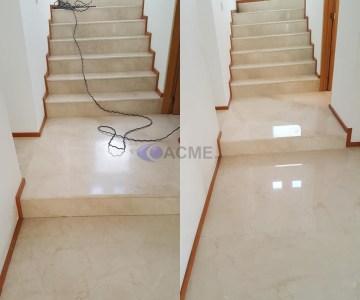 pulido de escaleras de mármol