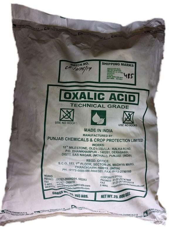ácido oxálico