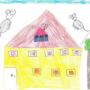 Der Kindergarten Mäuseburg gezeichnet von Emilia