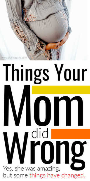 Your mom might do things different with a newborn in the wrong way. via @pullingcurls