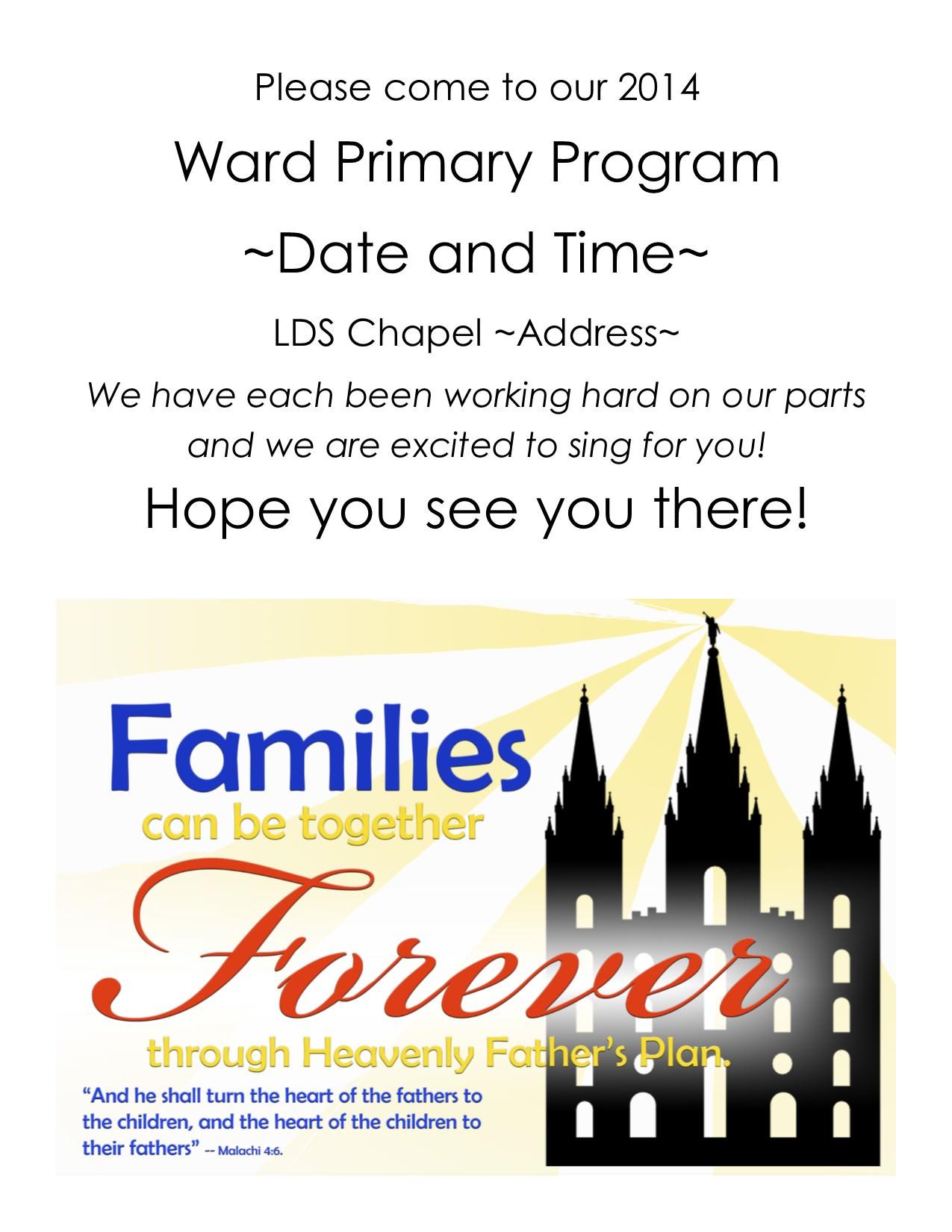 Lds Sacrament Program Template Lds Sacrament Meeting Program