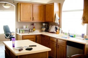 how to clean a messy kitchen fast