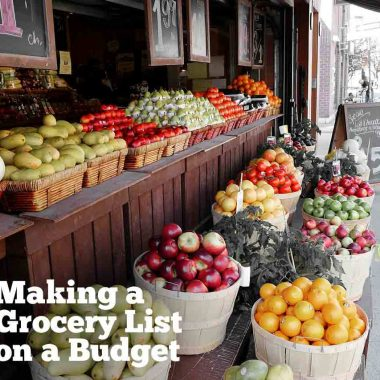 Preparing a grocery list while trying to stay on a budget is an important task!