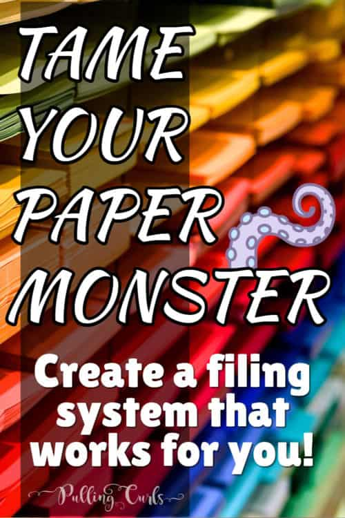 filing system / household / mom / papers / organization