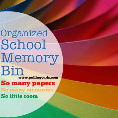 Hot to Declutter: Kids papers -- this post shows how I use my school memory bin to only keep a certain amount of papers each year, and also keep them organized.