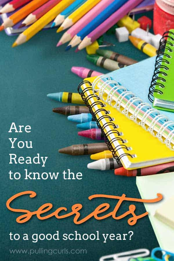 Starting school or even just going back for a new year can be really confusing.  So many new processes for your family to mold.  Check out this book that shares ALL the secrets to a great school year for you AND your family! via @pullingcurls
