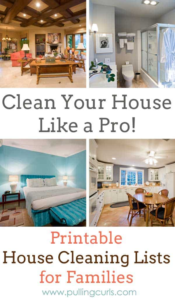 House cleaning list - The best house cleaning printables for families, printable cleaning list, children's cleaning list, husband's cleaning list.