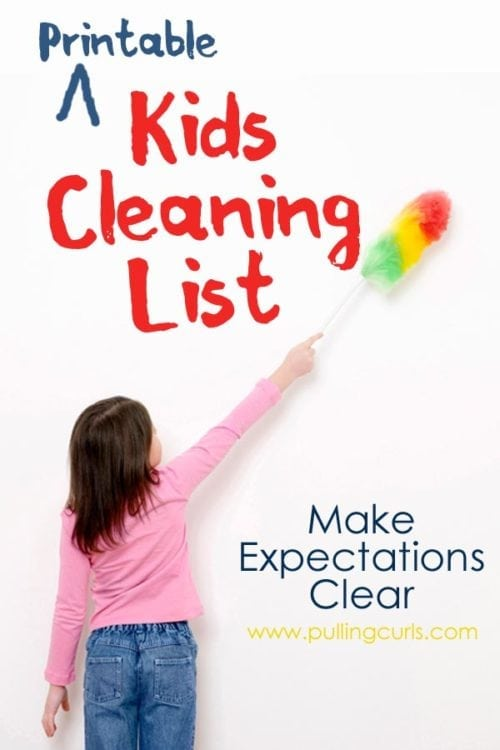 House Cleaning List Printable