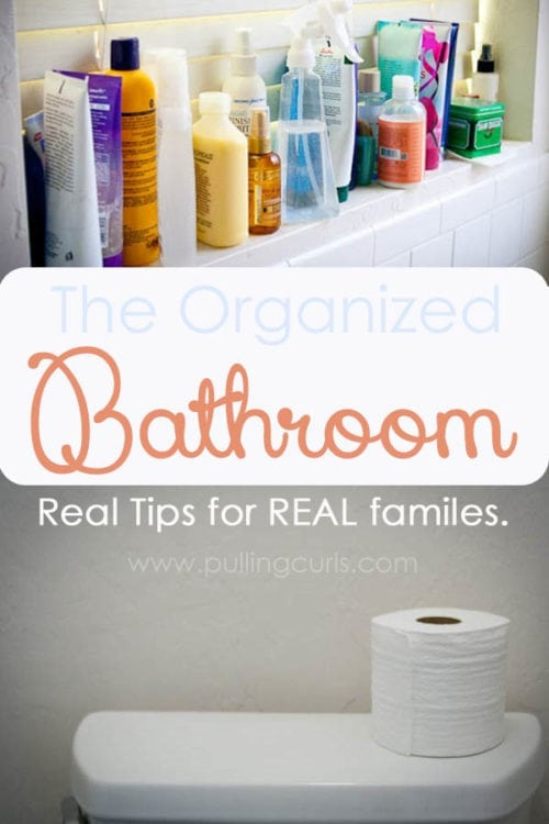 It seems like there are SO many other places in your house taking your attention before you take the time to organize bathroom. This post gives you 3 very-doable tips and tricks to corral all the products you feel like you need. :)