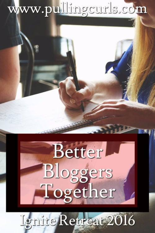 Will egos prevail when you get a group of bloggers rogether, or will we learn better together -- grow together?