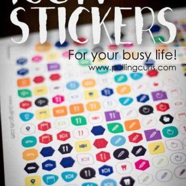 icon planner stickers | happy planner | Erin Condren | paper planner | washi tape